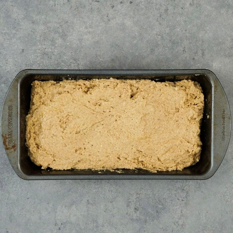 Bread in pan before baking