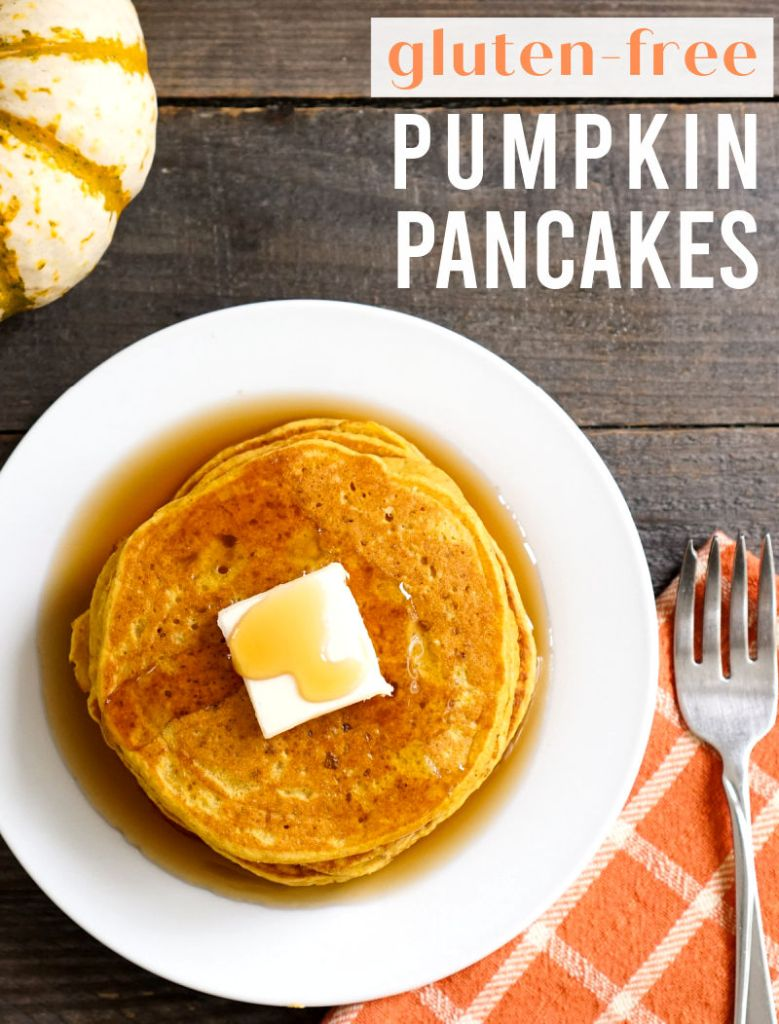 Pumpkin pancakes from above