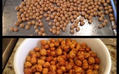 Snack Time! Crunchy Garbanzo Beans!!