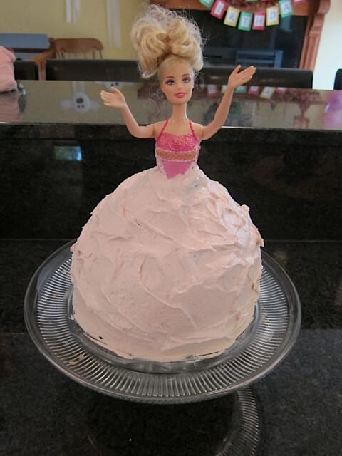 Easy Homemade Barbie Birthday Cake