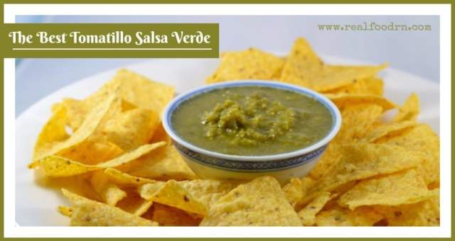 Chips and Salsa Verde | Tomatillo Salsa Verde Recipe