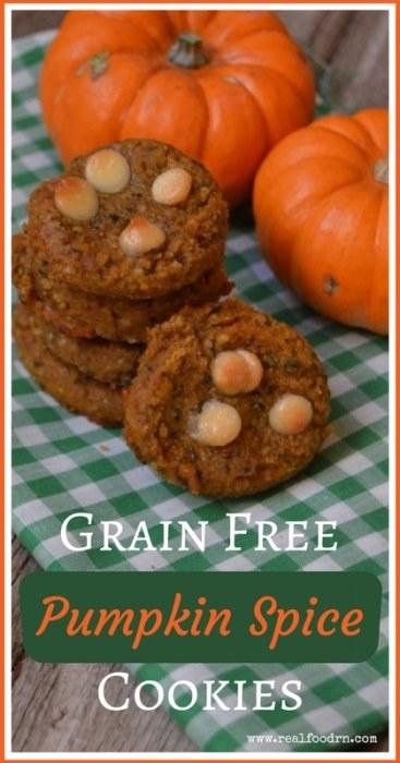 Grain Free Pumpkin Spice Cookies (egg, dairy, and grain free) | Real Food RN
