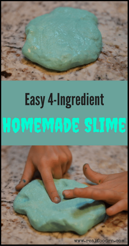 Fun and Easy 4-Ingredient Homemade Slime | Real Food RN What is more exciting than science that you can play with? We love making wild and crazy things like how to make Homemade Slime! My kids thought this was absolutely magical! The best part is that it's inexpensive to make, super easy, and provides instant entertainment for the kidd