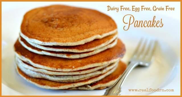 Dairy Free, Egg Free, Grain Free Pancakes | Real Food RN