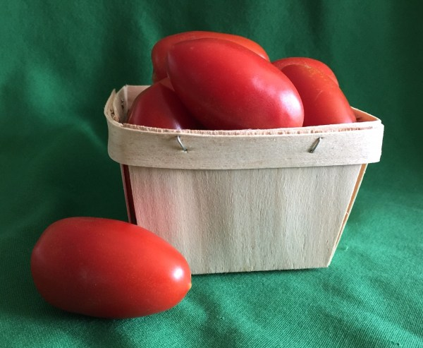 'Juliet' small plum-type tomatoes - one pint -Real Foods Farm - Wimberley, Texas