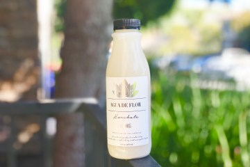 agua de flor horchata THC drink
