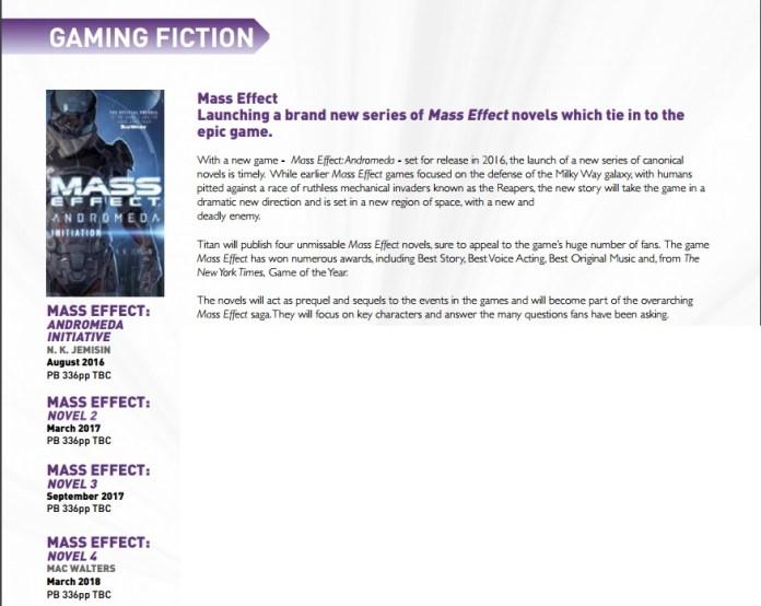 mass effect novels