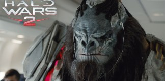 Banished Leader, Atriox, rocking some tunes in one of the Halo Wars 2 ads
