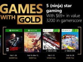 February 2018 Games with Gold
