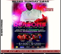 RETRO SUNDAY'S 46 -SUPER T KRAZY CHRIS AT REASONS -JEWELS INTL RESORT 4TH NOVEMBER 2017