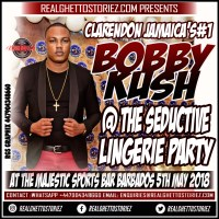 BOBBY KUSH THE ENTERTAINMENT BOSS AT SEDUCTIVE IN BARBADOS 5TH MAY 2018