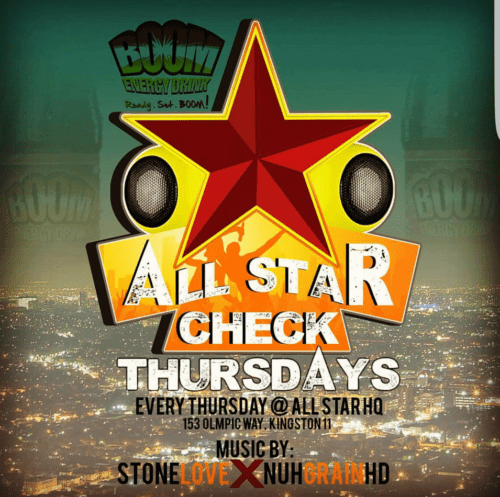 STONE LOVE X TONY MATTERHORN X RICHIE POO X NUHGRAIN SOUND AT ALL STAR THURSDAYS 3RD AUGUST 2017