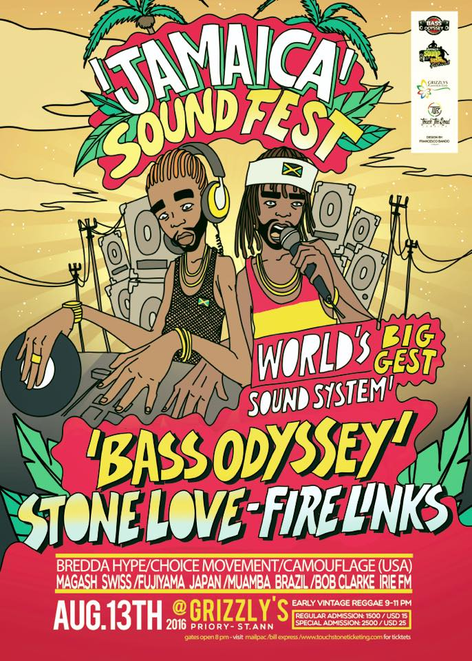STONE LOVE AT BASS ODYSSEY ANNIVERSARY AUGUST 2016