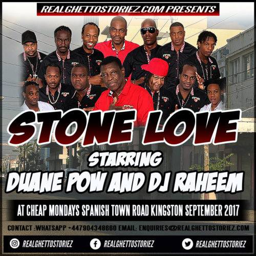 STONE LOVE AT CHEAP MONDAY'S SEPTEMBER 2017