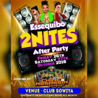 CHINE ASSASSIN DEEJAYS AT ESSEQUIBO 2 NIGHTS AFTER PARTY 27th OCTOBER 2018