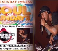 NASHEEN FIRE AT SOUL'S SUNDAYS IN LONDON 27TH JANUARY 2019