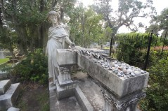 One of the beautiful grave stone statues at Bonaventure Cemetery