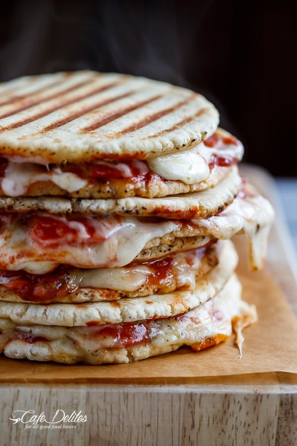 Grilled Pizza Panini - Cafe Delites