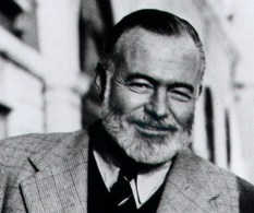 "**FILE** Ernest Hemingway stands on the Bridge of Sighs in Venice, Italy, in this 1950 file photo taken by his friend Aaron Edward Hotchner and released by the Library of Congress. Singing a takeoff of Johnny Cash's ""Folsom Prison Blues"" helped a Texas commercial property developer win an Hemingway look-alike contest during a festival honoring the author that ended Sunday, July 23, 2006 in Key West, Fla. Sporting a khaki hunting outfit, white beard and bushy eyebrows, Chris Storm, 55, hit Cash-like low notes as he sang a plea for contest judges' votes during the highlight of the six-day Hemingway Days festival. The competition drew 130 other bearded entrants who paraded across the stage at Sloppy Joe's Bar, the author's favorite watering hole (AP Photo/Library of Congress, A.E. Hotchner, FILE)"