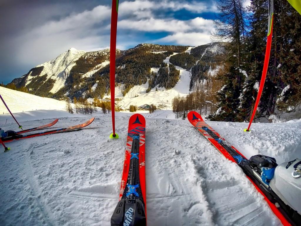skis, ski slope, sports