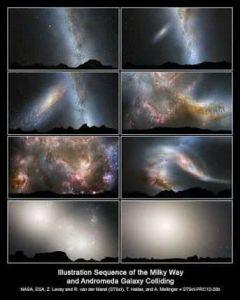 Colisão entre Via Láctea e Andrômeda
