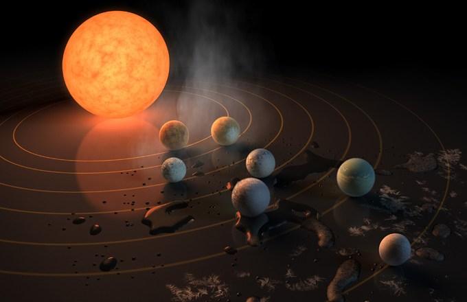 Primeira evidência considerável de água encontradas no sistema TRAPPIST-1
