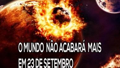 O Mundo não acabará mais em 23 de setembro