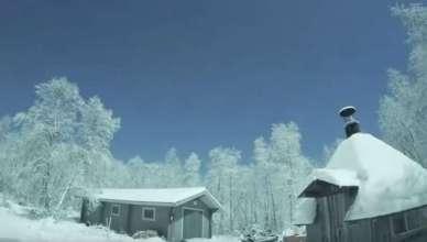 Explosão de Meteoro transforma noite em dia na Finlândia