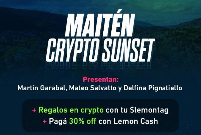 Invitados por Lemon Cash y Turismo, Delfina Pignatiello, Mateo Salvatto y Martín Garabal llegan este viernes con regalos crypto a la ciudad