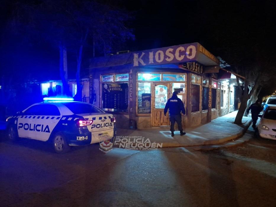 Delincuente fue detenido luego de haber asaltado a mano armada un kiosco del centro de Junín de los Andes