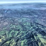 East of San Francisco Bay aerial view