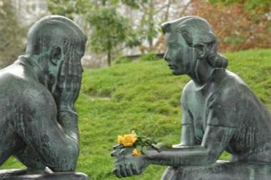 conversation statue