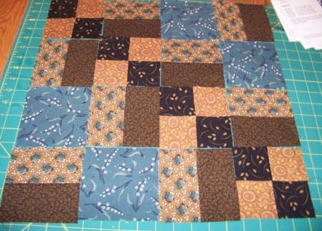 Piecing the quilt