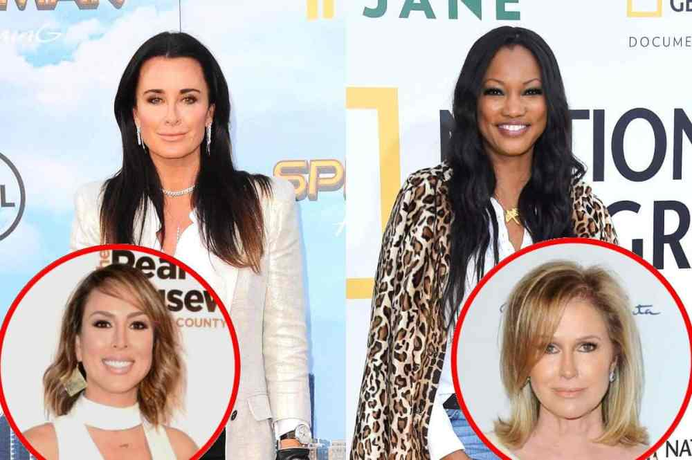 """RHOBH's Kyle Richards Denies Shading Garcelle Beauvais And Explains Why She's Missing In Photo, Weighs In On Kelly Dodd Drama And Claims Working With Sister Kathy Hilton Is """"Interesting"""""""