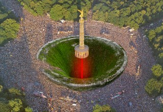 "AWESOME, BUT KINDA CREEPY AWARD: ""BERLIN'S VICTORY COLUMN SUICIDAL LOVE PARADE"" BY YOVCHO GORCHEV"