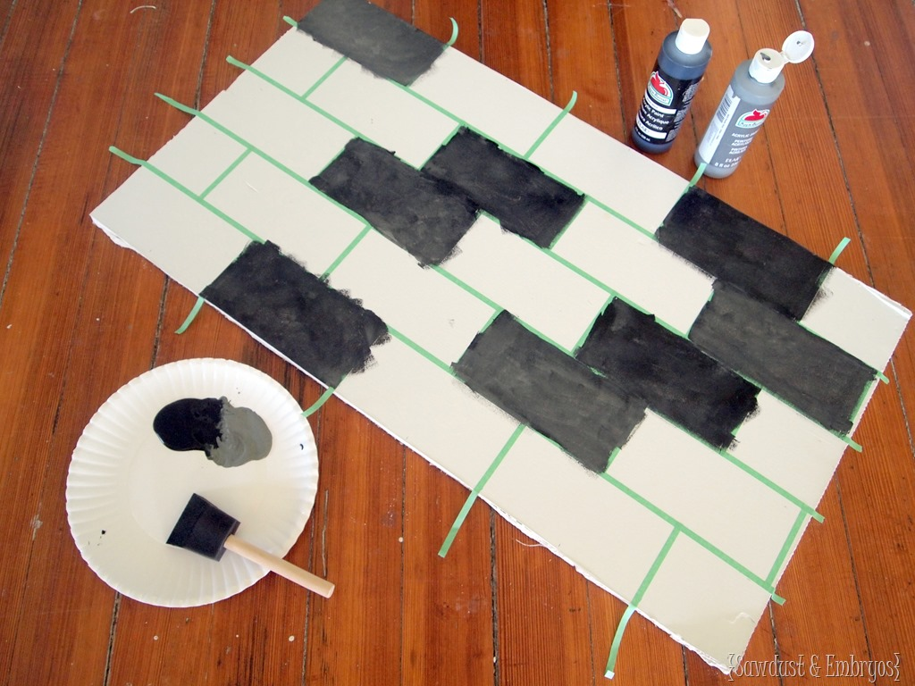 painted subway tile backsplash tutorial