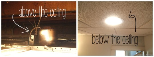Operation Laundry Room  Lighting    Reality Daydream Installing can lights in a drop ceiling  Sawdust and Embryos