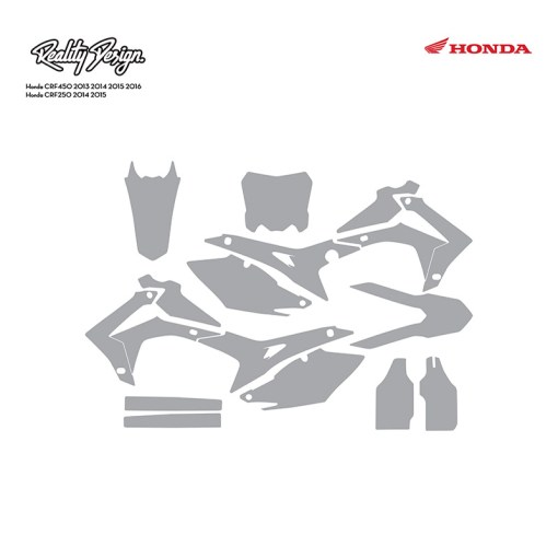 Honda CRF450 2013 2014 2015 2016 Honda CRF250 2014 2015 template