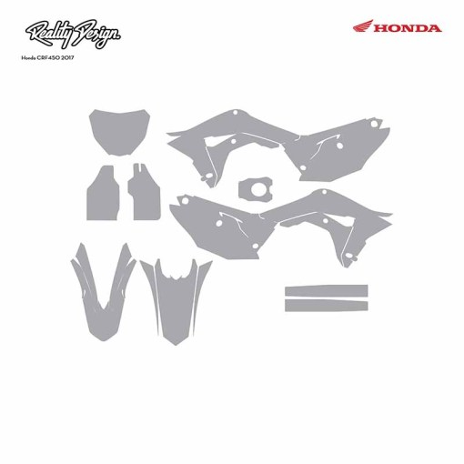 Honda CRF 450 graphic template 2017