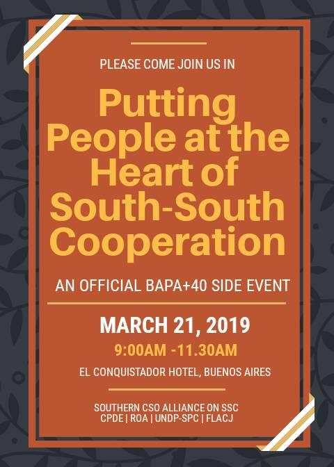 Southern CSOs claim their space and push for people-centered SSC at BAPA+40