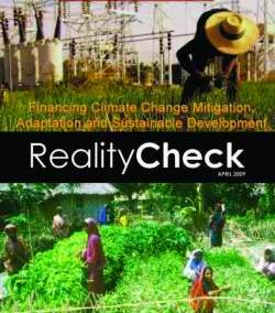 Financing Climate Change Mitigation, Adaptation and Sustainable Development