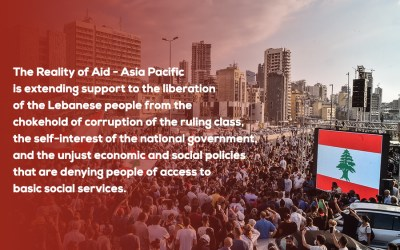 The Reality of Aid – Asia Pacific extends its solidarity to the people of Lebanon