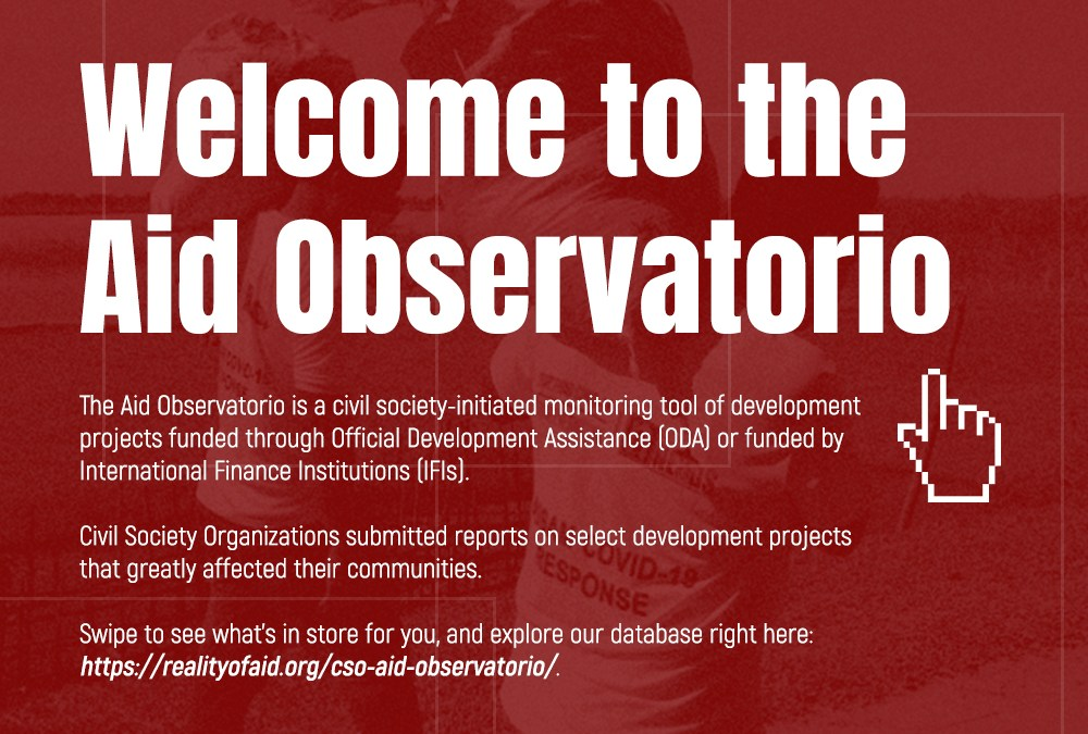 The Reality of Aid Network – Asia Pacific launches the CSO Aid Observatorio