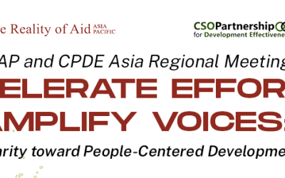 """Reality of Aid – Asia Pacific holds its 2021 Regional Meeting, """"Accelerate Efforts; Amplify Voices"""""""
