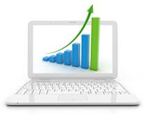 Image denoting website performance improvement chart