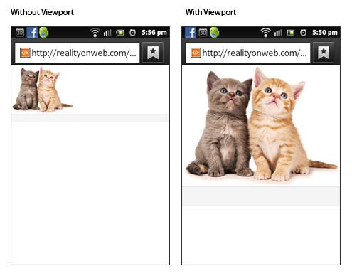 Meta Viewport tag example