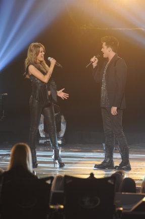 American Idol 2013 Spoilers - Adam Lambert and Angie Miller