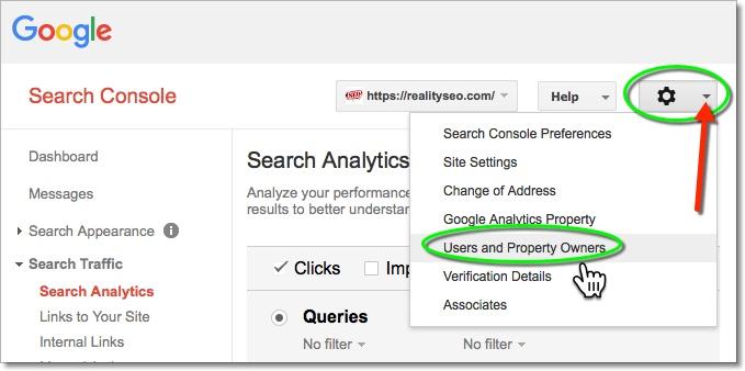 Google Search Console User Admin
