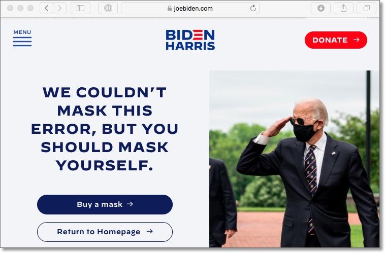 JoeBiden 404 Error Page