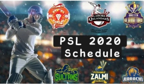 PSL Schedule 2020 With PSL 5 Timetable